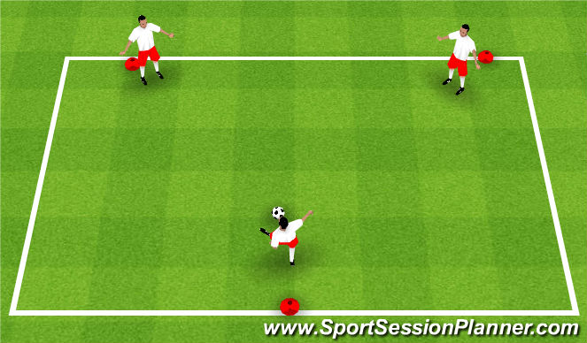 Football/Soccer Session Plan Drill (Colour): Inside Push Pass Progression 2