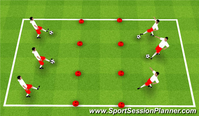 Football/Soccer Session Plan Drill (Colour): Keep your Yard Clean