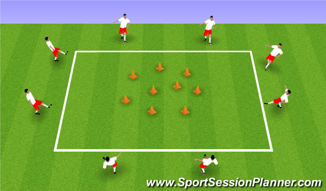 Football/Soccer Session Plan Drill (Colour): Bowling 1