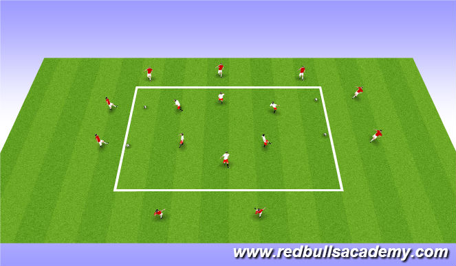 Football/Soccer Session Plan Drill (Colour): Unopposed warm up