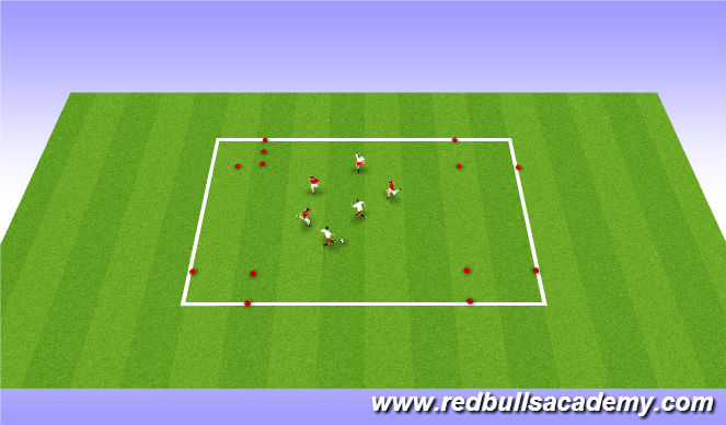 Football/Soccer Session Plan Drill (Colour): Fully opposed Small sided game