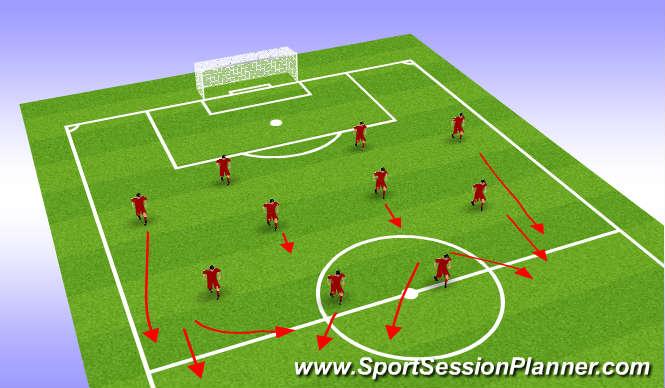 Football/Soccer Session Plan Drill (Colour): Away Team Shape u21 Shape