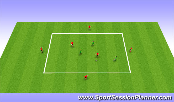 Football/Soccer Session Plan Drill (Colour): Possession game woking in small units