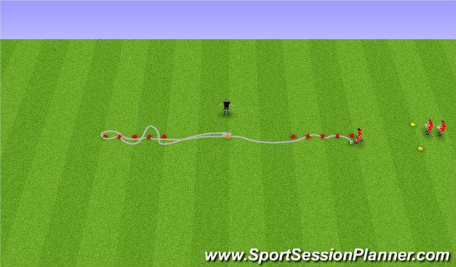 Football/Soccer Session Plan Drill (Colour): Knattrakspróf.