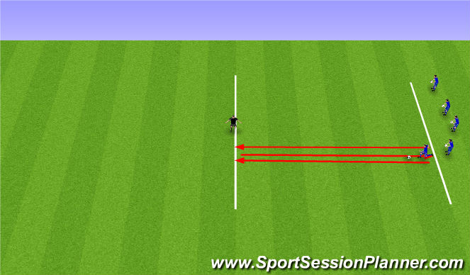 Football/Soccer Session Plan Drill (Colour): Snerpupróf.