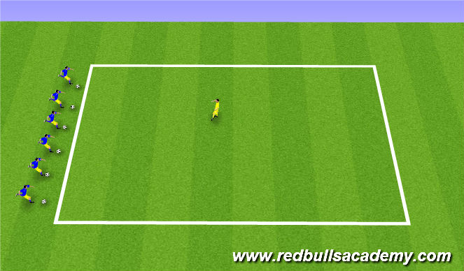 Football/Soccer Session Plan Drill (Colour): Spongebob