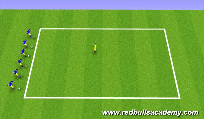 Football/Soccer Session Plan Drill (Colour): Spongebob