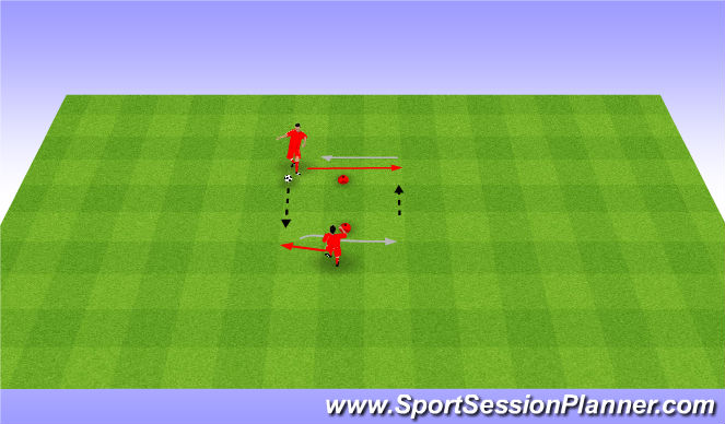 Football/Soccer Session Plan Drill (Colour): 2 touch and pass. Przyjęcia i podania.