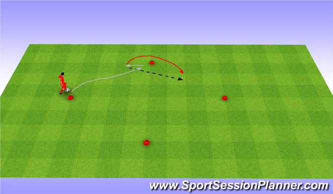Football/Soccer Session Plan Drill (Colour): Scoop and drag back.
