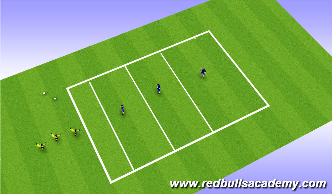 Football/Soccer Session Plan Drill (Colour): Taking on Defenders - Warm up