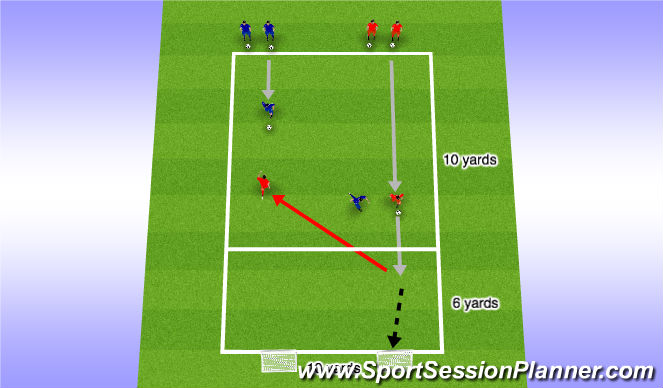 Football/Soccer Session Plan Drill (Colour): Decision Making & Speed