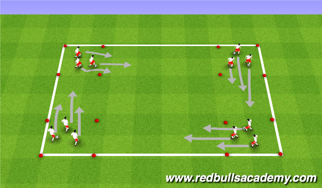 Football/Soccer Session Plan Drill (Colour): Changing-Places