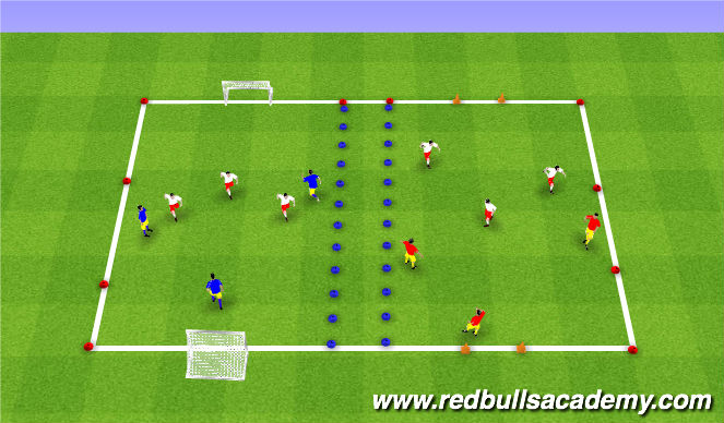 Football/Soccer Session Plan Drill (Colour): Free Play/Tournament