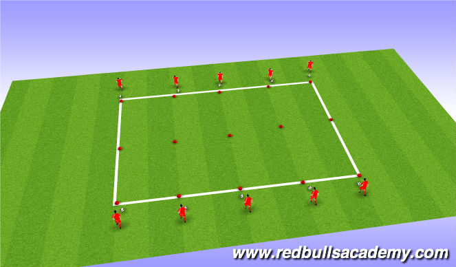 Football/Soccer Session Plan Drill (Colour): Coned 1v1