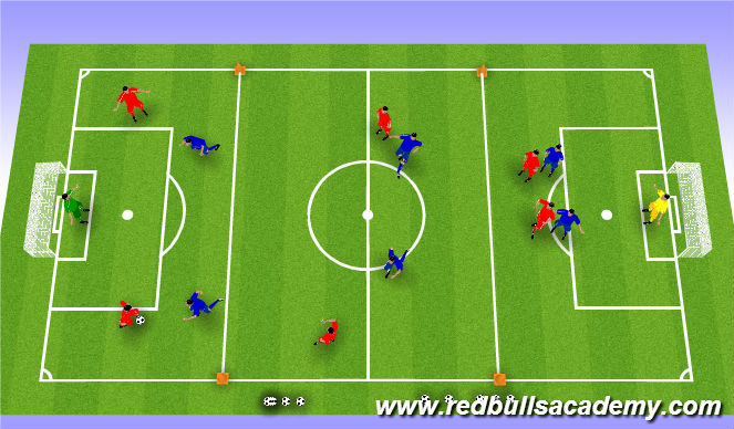 Football/Soccer Session Plan Drill (Colour): Conditioned end game