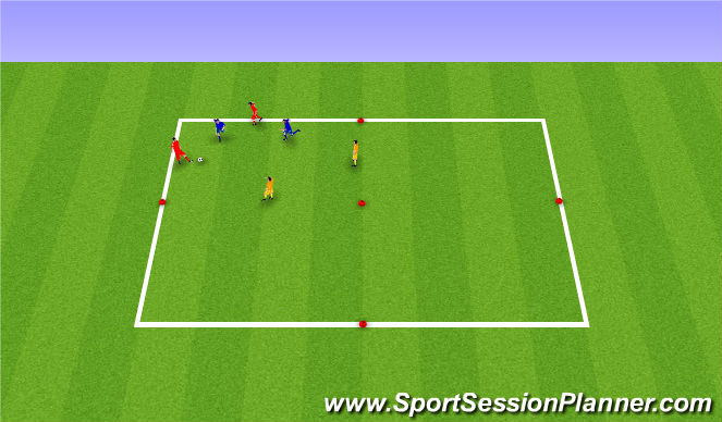 Football/Soccer Session Plan Drill (Colour): Possession 4v2 to  Team