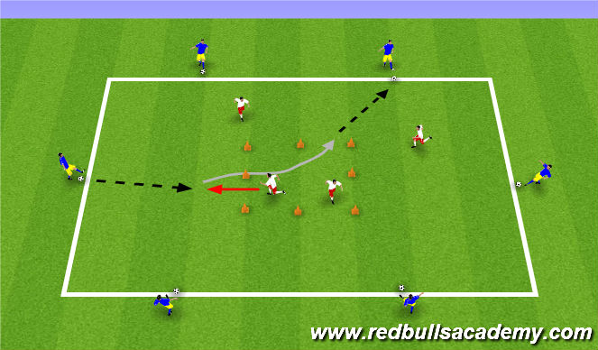Football/Soccer Session Plan Drill (Colour): pass-turn-pass