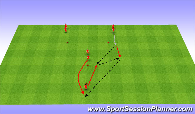 Football/Soccer Session Plan Drill (Colour): Y drill