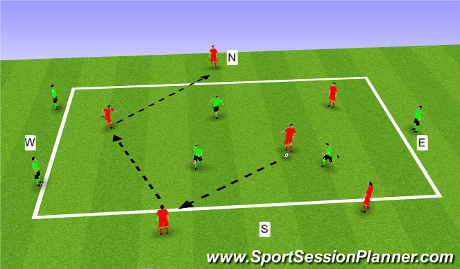 Football/Soccer Session Plan Drill (Colour): Main Theme1