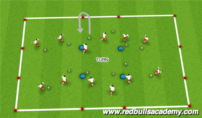 Football/Soccer Session Plan Drill (Colour): Warm Up/Main Theme