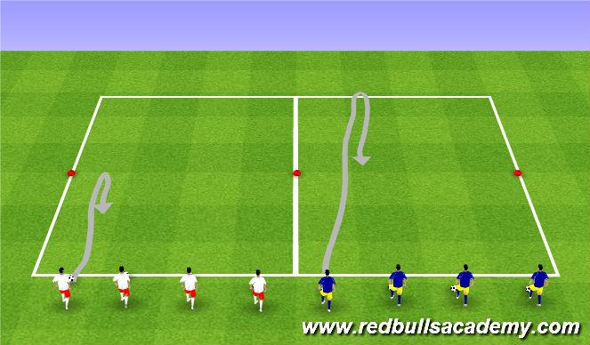Football/Soccer Session Plan Drill (Colour): Messi/Xavi
