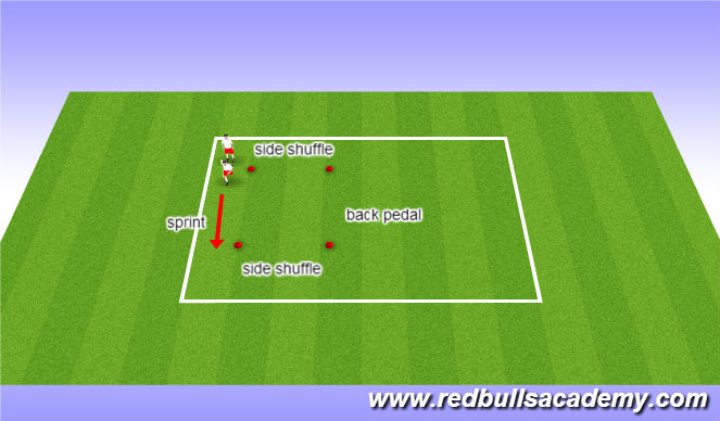 Football/Soccer Session Plan Drill (Colour): SAQ