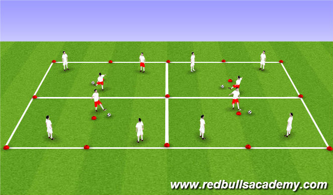 Football/Soccer Session Plan Drill (Colour): Triangle Drill - First Touch (Unoppsed)