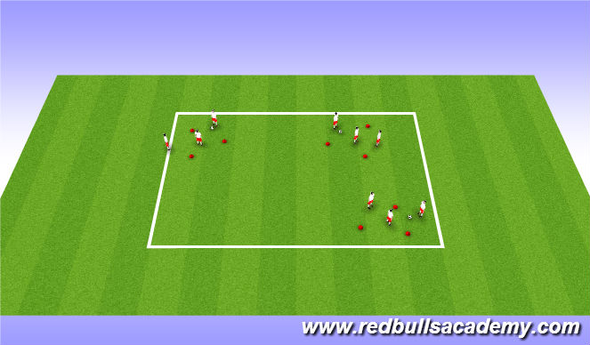 Football/Soccer Session Plan Drill (Colour): Warm Up: Quick passing