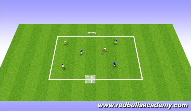 Football/Soccer Session Plan Drill (Colour): 3v3 Match