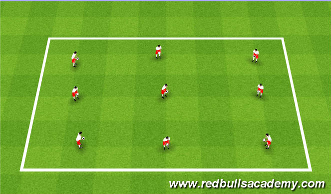 Football/Soccer Session Plan Drill (Colour): Ball mastery/Juggling