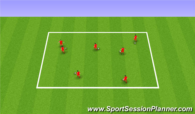 Football/Soccer Session Plan Drill (Colour): Chicken