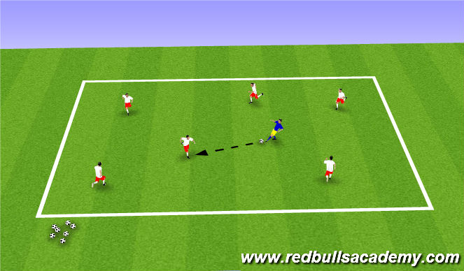 Football/Soccer Session Plan Drill (Colour): Passing Activity 1
