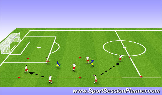 Football/Soccer Session Plan Drill (Colour): Main - possession