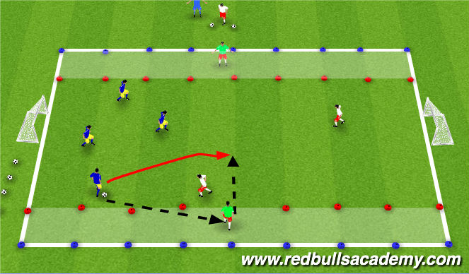 Football/Soccer Session Plan Drill (Colour): Conditional Game