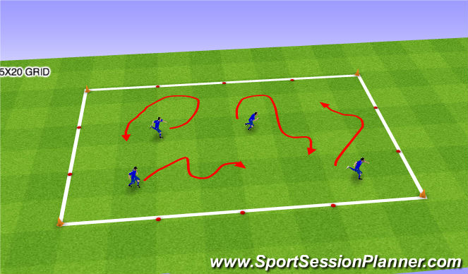 Football/Soccer Session Plan Drill (Colour): Mov / BF1
