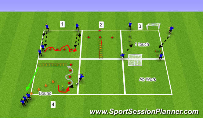 Football Soccer U17b Possession Tactical Possession