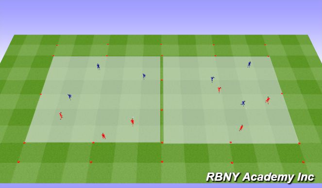 Football/Soccer Session Plan Drill (Colour): Individual/Group Tactics