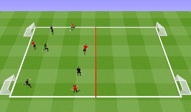 Football/Soccer Session Plan Drill (Colour): Learn