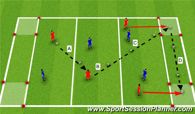 Football/Soccer Session Plan Drill (Colour): Nuno_Rosa_Ball_Control_Technique_Practice