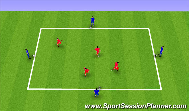 Football/Soccer Session Plan Drill (Colour): Creating space practice 2