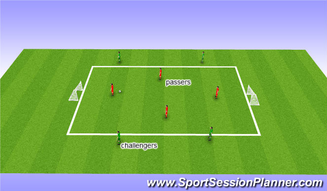 Football/Soccer Session Plan Drill (Colour): Winning the ball back
