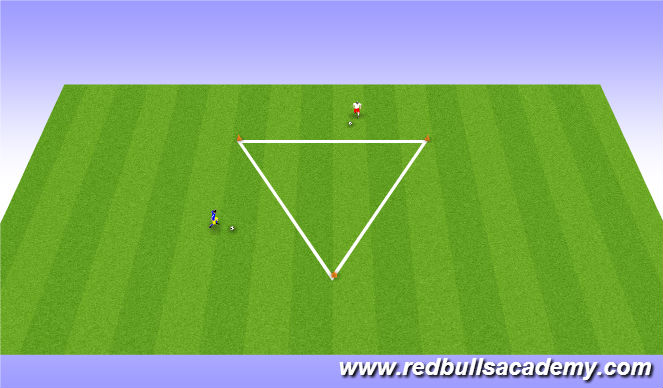 Football/Soccer Session Plan Drill (Colour): Dribbling techniques related to topic