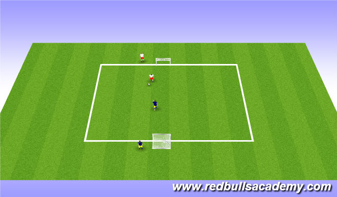 Football/Soccer Session Plan Drill (Colour): 1v1 Facing forward