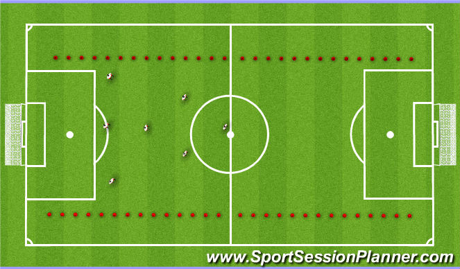 Football/Soccer Session Plan Drill (Colour): Game - 8v8 & Cool Down