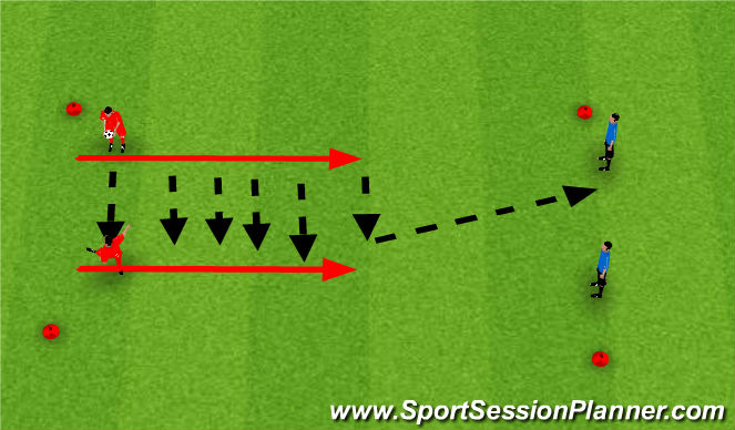 Football/Soccer Session Plan Drill (Colour): Aireal Control WIth Finishing