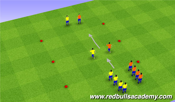 Football/Soccer Session Plan Drill (Colour): Stage 1 Variation
