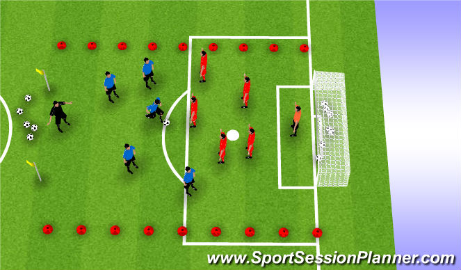 Football/Soccer Session Plan Drill (Colour): King's Court