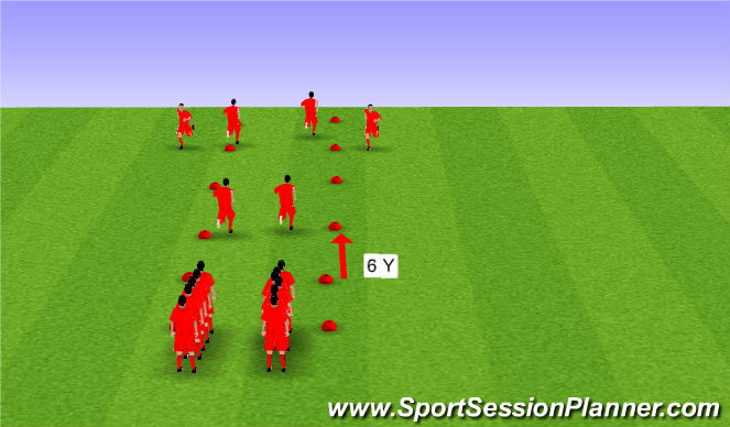 Football/Soccer Session Plan Drill (Colour): FIFA 11+ Warm-up