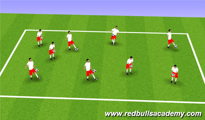 Football/Soccer Session Plan Drill (Colour): Arrival Warm-up