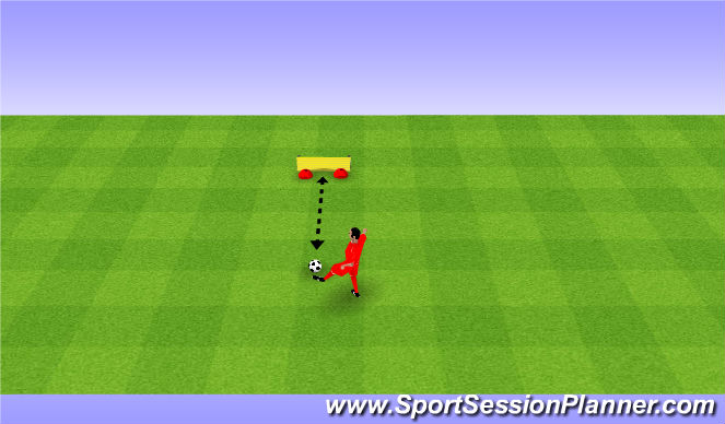 Football/Soccer Session Plan Drill (Colour): Passing against a wall. Podania przy ścianie.